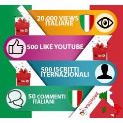 """Pacchetto Marketing per Youtube """"Gold Italia"""""""